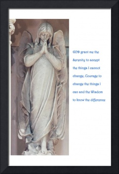 Photograph of Angel Statue with the Serenity Praye