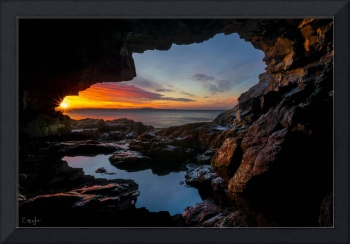 Cave Sunrise in Maine by Cody York_15A9500