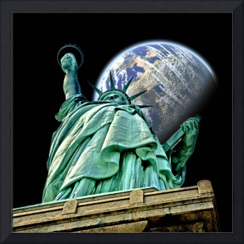 Statue of Liberty in Space