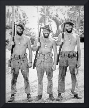 Three brothers of the US Marine Corps in the South