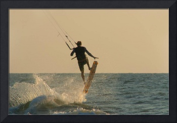 Kite Surfer Jumping Mandrem