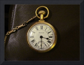 Pocket Watch on Leather