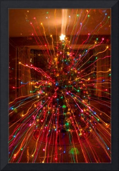 Crazy Colorful Christmas Tree Abstract