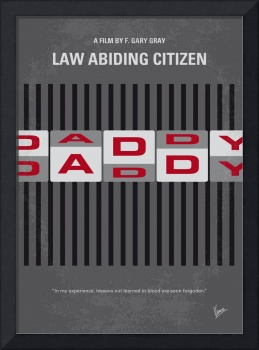 No738 My Law Abiding Citizen minimal movie poster