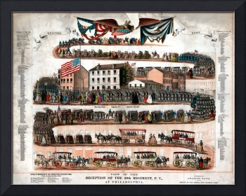 View of the reception of the 29th Regiment, P. V.,