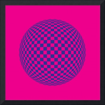 Squares in Motion Spehere Magenta & Blue