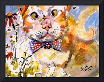 Tommy & Bee Watercolor by Ginette Callaway