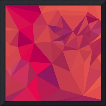 Jazzberry Jam Red Abstract Low Polygon Background