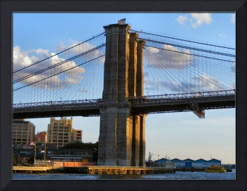Closeup of the Brooklyn Bridge