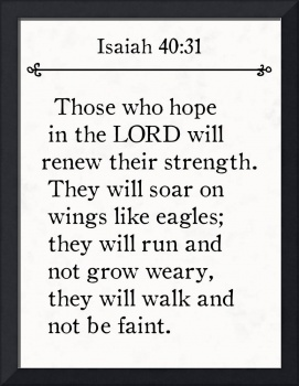 Isaiah 40:31- Bible Verse Wall Art Collection