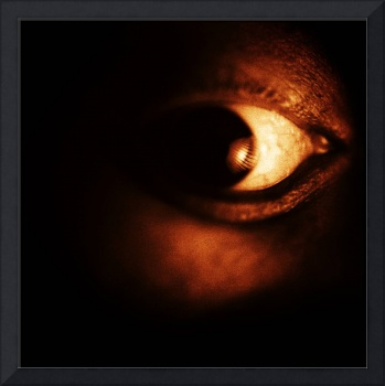 Self portrait of photographer surreal eye