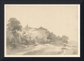 Landscape with a house and a mill, Andreas Schelfh