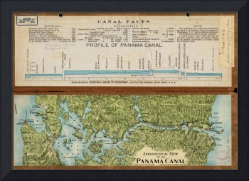 Vintage Map of The Panama Canal (1911)