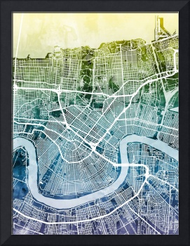 New Orleans Street Map