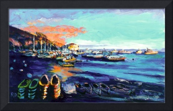 Avalon Harbor Catalina Island Sunset