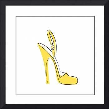 Yellow High Heel
