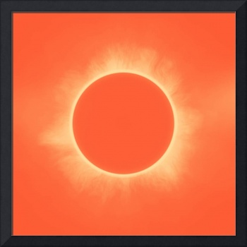 Solar Eclipse in Sunset Color