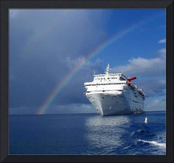 Cayman Island Rainbow on the Carnival Cruise Inspe