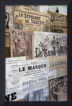 19th CENTURY PARIS NEWSPAPERS