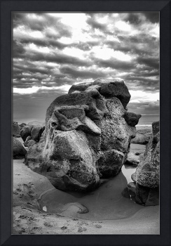 Big Rock in Black and White