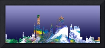 Decorative Skyline Abstract  Houston T1115B