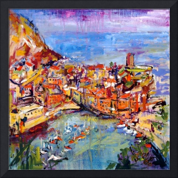 Vernazza Italy Oil Painting by Ginette Callaway