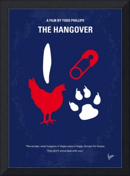 No145 My THE HANGOVER minimal movie poster