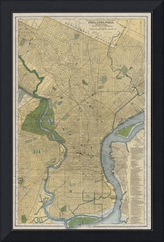 Vintage Map of Philadelphia PA (1895)