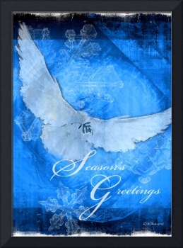 Christmas Dove Greeting Card