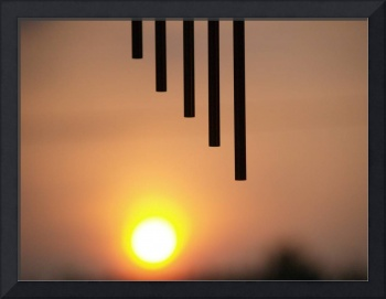 Wind chimes and sunset