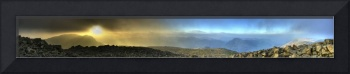 Panoramic Scarfell viewing over Wasdale - HDR Pano