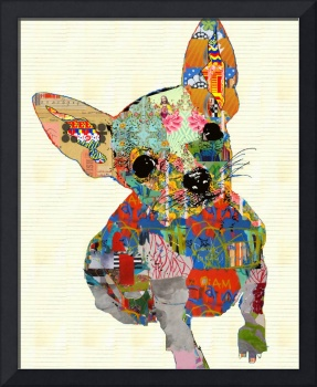 Dog collage art III