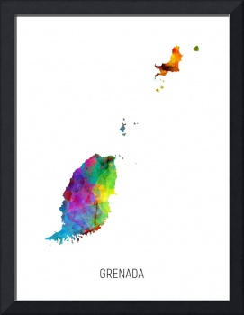 Grenada Watercolor Map
