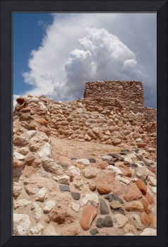 Storm Building over Ancient Ruins