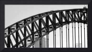 Bridge Climb 1 in Black and White,Sydney,Australia