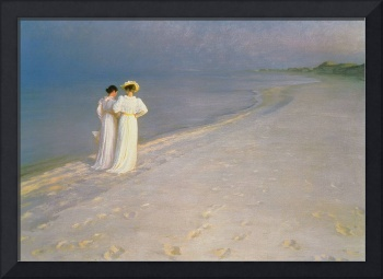 Summer Evening on the Skagen Southern Beach with A