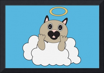 Angel Cat on Cloud