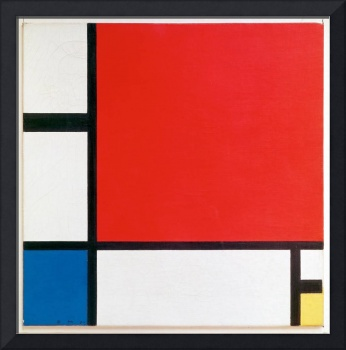 Composition II in Red Blue and Yellow by Piet Mond