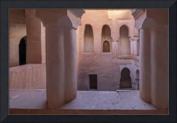 Casbah Courtyared, Ait Youl, Morocco