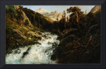 WILLIAM KEITH (1838-1911) Kings River (1901) - oil