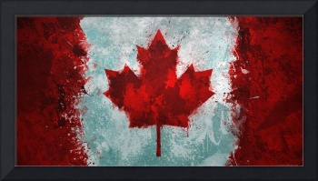 Canadian Flag Grunge