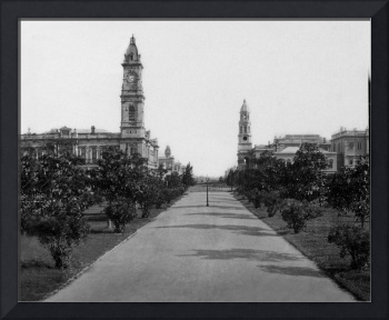 Adelaide, Town Hall c1890  South Australia