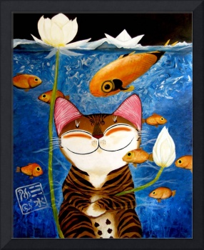 cat-art-catmasutra-water-5-elements
