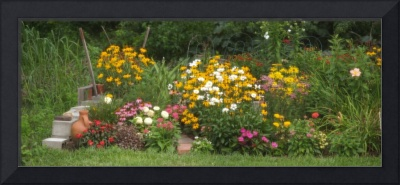 Summer Perennial Garden Panoramic
