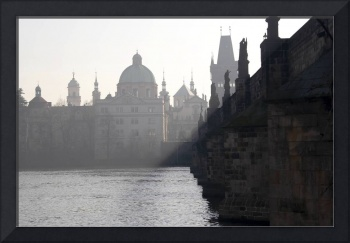 Charles bridge at early morning