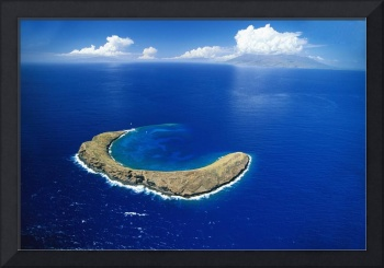 Hawaii, Maui, Aerial Overview Of Molokini Crater