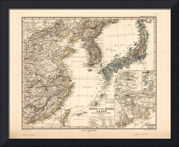Map of China, Korea and Japan (1872)