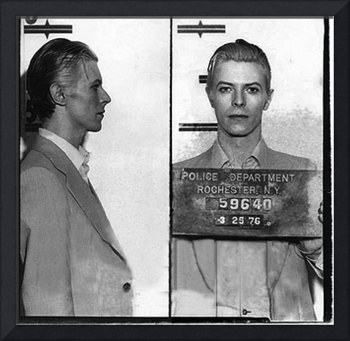 David Bowie Mug Shot Horizontal