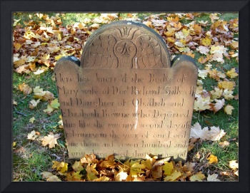 Brownstone Grave with Angel