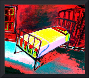 Vacancy - Hotel Room Red Bedroom Iron Bed